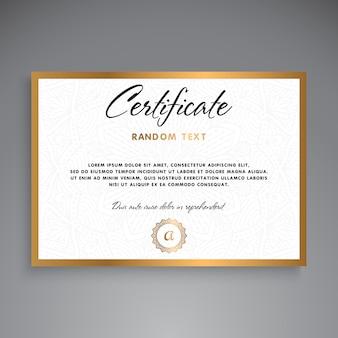 Дизайн шаблона профессионального сертификата