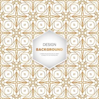 Роскошный декоративный дизайн мандалы в золотом цвете