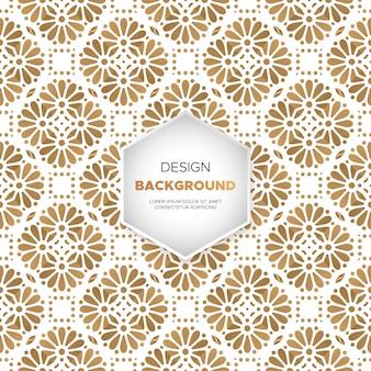 ゴールドカラーベクトルで豪華な装飾的な曼荼羅のデザインの背景