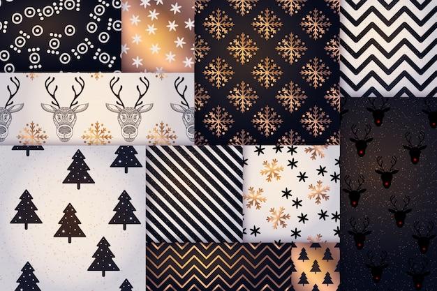 Рождественский узор, счастливый зимний праздник плитка фон