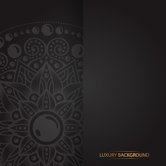 Золотая винтажная открытка на черном фоне
