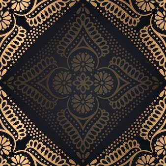 Роскошный декоративный фон дизайн мандалы
