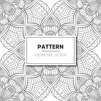 シームレスな民族と部族のパターン。手描きの装飾的な縞模様。あなたの織物のための白黒印刷。幾何学的なベクトル。