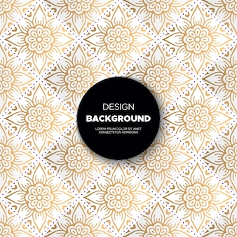 Роскошный декоративный дизайн фона мандалы в золотом цвете