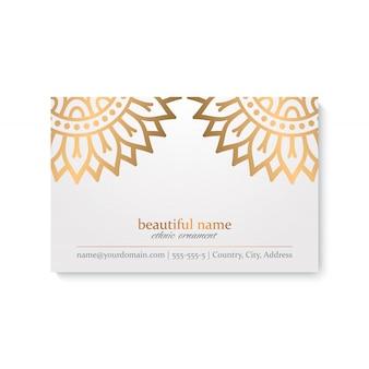 Визитная карточка с винтажными декоративными элементами
