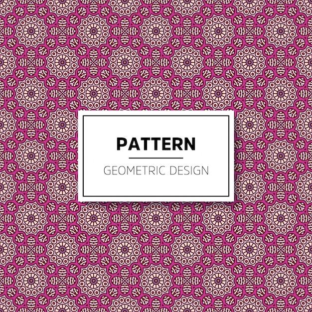 美しいマンダラのシームレスなパターン背景デザイン