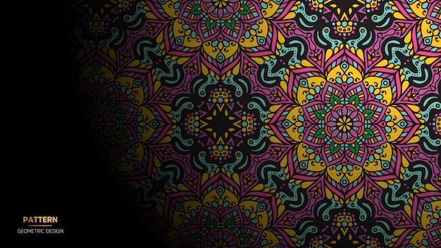 ヨガ、瞑想のマンダラデザインの背景