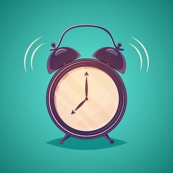 目覚まし時計のアウトライン