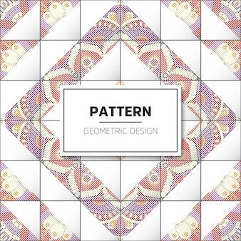 幾何学的なタイルパターン