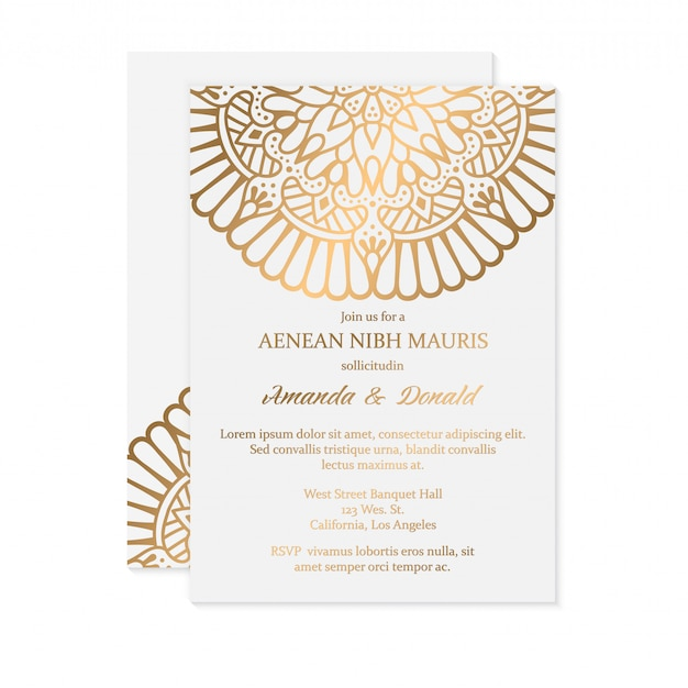 Роскошное свадебное приглашение