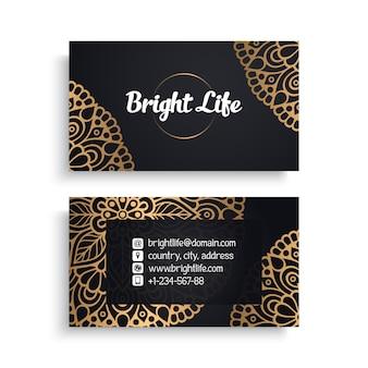 Роскошный дизайн визитки