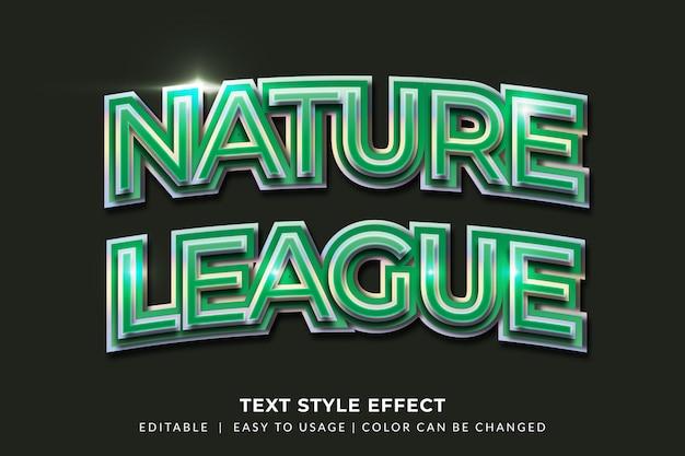 緑のグラデーションを使用した光沢のある太字のテキストスタイル効果
