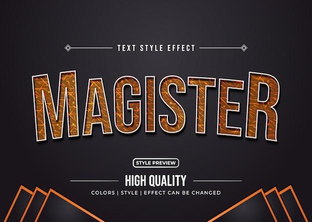 Стиль рельефного текста с эффектом текстуры
