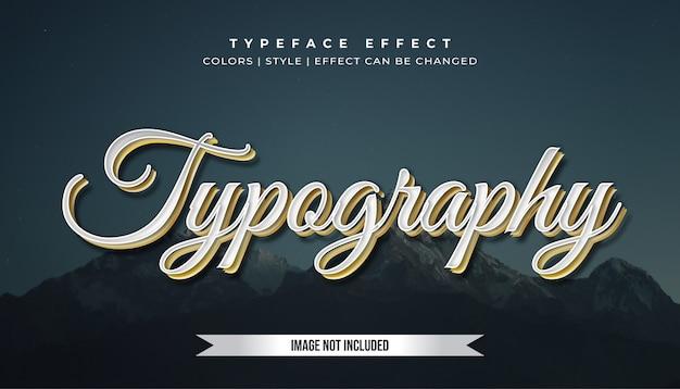 Эффект стиля текста из белого золота