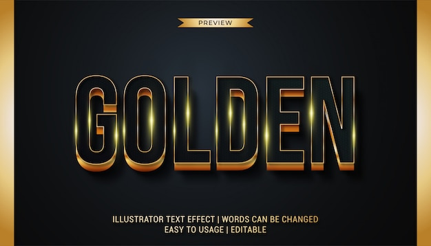 Необычные золотые текстовые эффекты