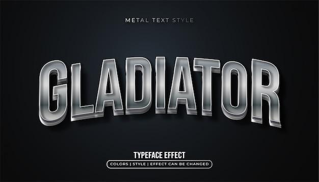 Изогнутый металлический текстовый эффект