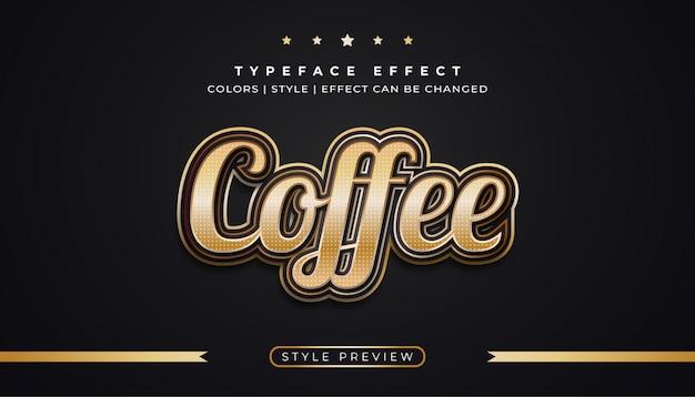 Черно-золотой текстовый эффект с роскошным стилем