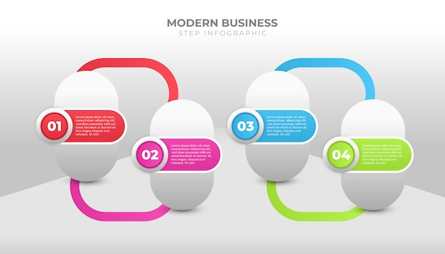 ワークフロー、レイアウト、プロセス図、またはフローチャートのビジネスインフォグラフィックデザイン