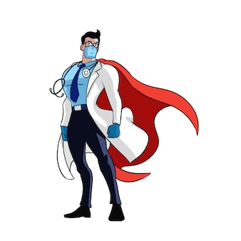 ドクターはヒーローイラスト