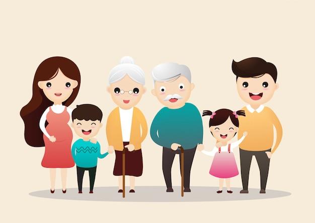 家族のキャラクター。