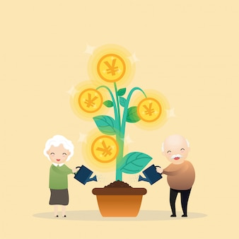 金のなる木を成長しています。