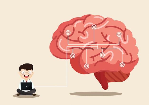人間の脳卒中の科学的な医療イラスト