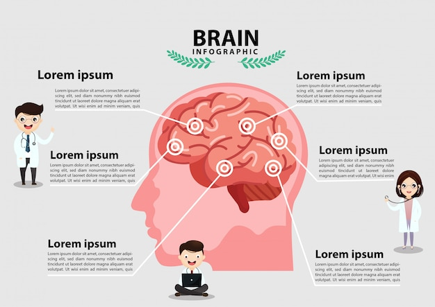 人間の脳卒中。