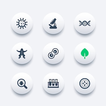 Набор иконок биологии