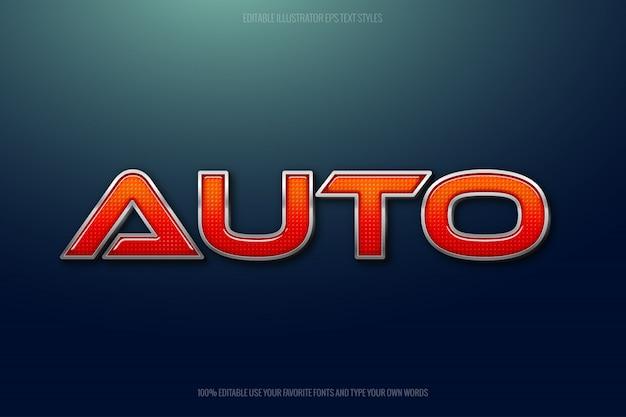 テールライトテキスト効果、自動車用インスタントテキスト効果。