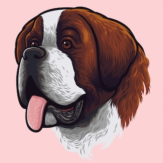 Сен-бернарский портрет собаки
