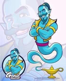 イラスト要素または会社のマスコットの魔神キャラクター