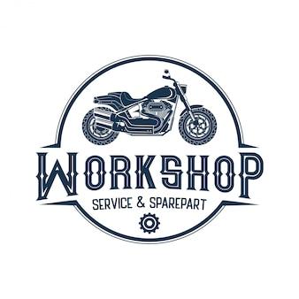 バイク、ワークショップ、カスタムのためのロゴ