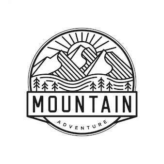 ラインアートスタイルの屋外ロゴ