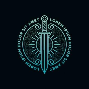 刀と太陽の光のロゴ