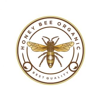 蜂蜜製品やミツバチ農場のロゴ