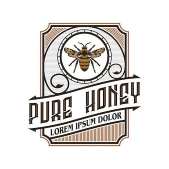 Логотип для медовых продуктов или медоносных пчел