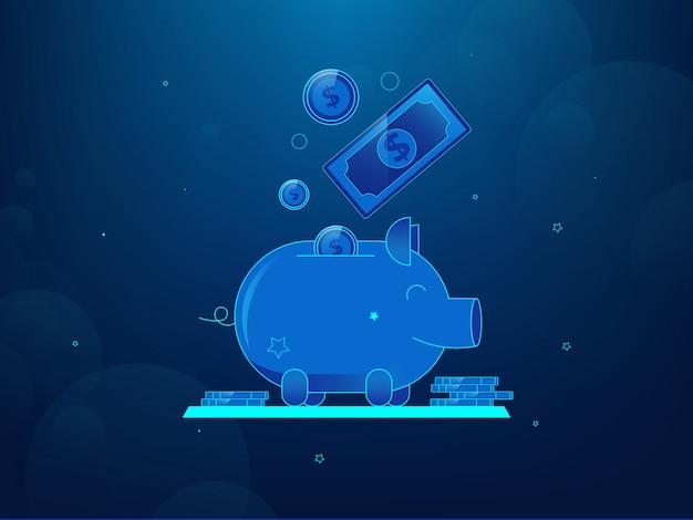 お金の節約のコンセプト