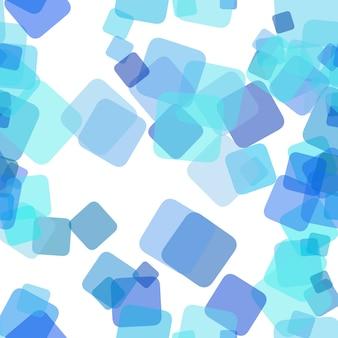 Бесшовный хаотический квадратный узор фона - векторный графический дизайн из случайных вращающихся квадратов с эффектом непрозрачности
