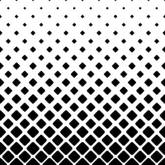 モノクロの正方形のパターンの背景 - 幾何学的なベクトルイラスト