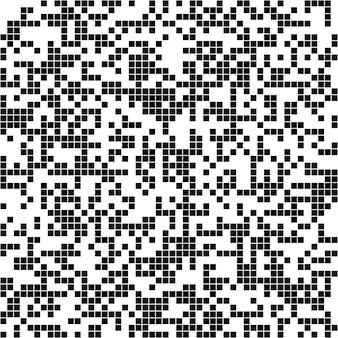 Абстрактный нерегулярный квадратный пиксель фон - векторный графический дизайн из черных квадратов на белом фоне