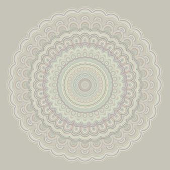 Чешский орнамент мандалы - круглый шаблон векторного дизайна симметрии из концентрических овальных форм
