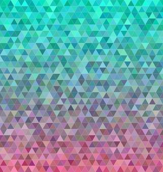 抽象的な正三角形のモザイクタイルの背景
