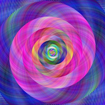Разноцветный фон фрактальной
