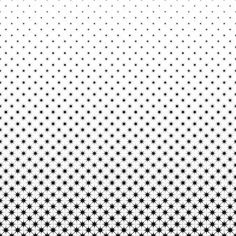 黒と白の星のパターン - オクタグラムからの幾何学的なベクトルの背景図