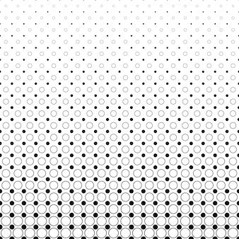 単色の抽象的な円のパターンの背景 - ドットとサークルからのモノクロ幾何学的なベクトルデザイン