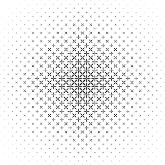 単色抽象楕円パターンの背景 - 白黒幾何学ベクトルグラフィック