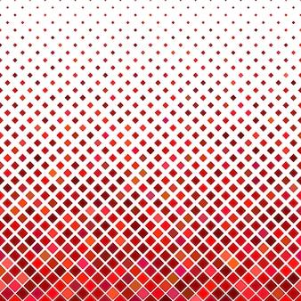 抽象的な斜めの正方形のパターンの背景 - 赤い色調の四角形からの幾何学的なベクトルグラフィック