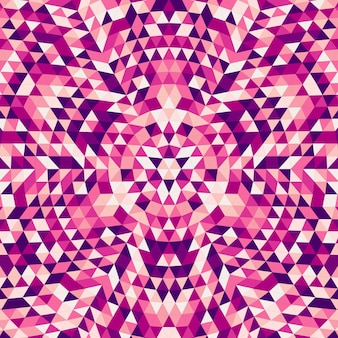 円形の抽象的な三角形の曼荼羅の背景 - カラフルな三角形からの対称的なベクトルパターンのデザイン