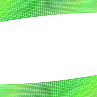 緑色の幾何学的なグリッドの背景 - 湾曲した角ストライプからのデザイン