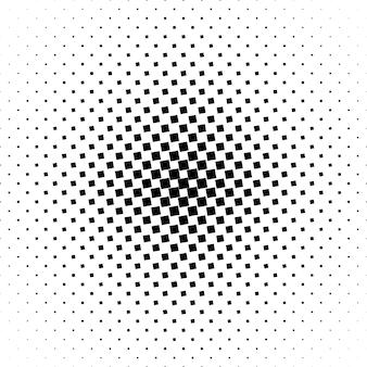 モノクロの正方形のパターンの背景